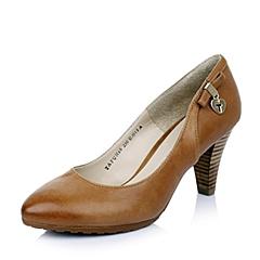 Tata/他她 春季专柜同款 女士棕色油蜡羊皮女皮鞋FUH66AQ4