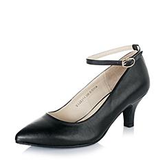 Tata/他她黑色小牛皮革女浅口鞋2015春季2R210AQ5