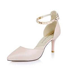 Tata/他她粉色羊皮女皮鞋13A15AK5女中空2015春季单鞋
