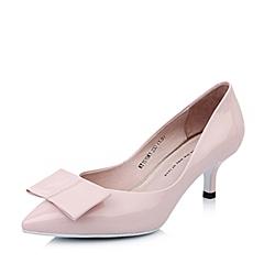 Tata/他她2015春季粉漆皮牛皮浅口女单鞋KY151AQ5