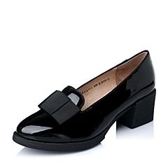 Tata/他她春季专柜同款黑色牛皮女单鞋2Q901AQ5
