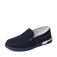 Tata/他她夏季专柜同款蓝色时尚男单鞋ZU254BM6