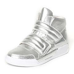 Tata/他她冬季专柜同款银白色裂面牛剖层女休闲靴FG643DD6