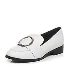 Tata/他她2017年春季专柜同款白色牛皮女皮鞋FG203AQ7