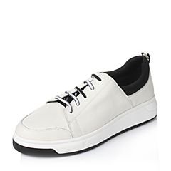 Tata/他她2017年春季白色时尚男休闲鞋F9621AM7