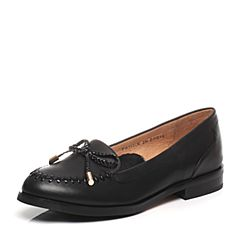 Tata/他她2017年春季黑色小牛皮女皮鞋2I2G2AQ7