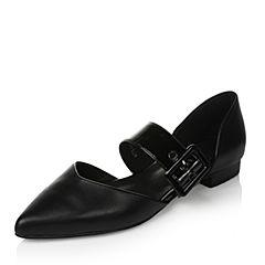 Tata/他她春季黑色漆皮羊皮女皮鞋2R135AK7