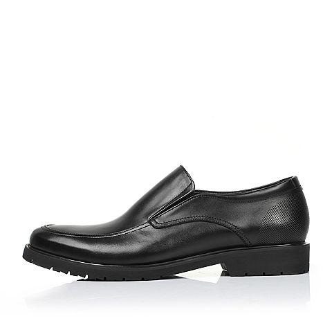 tata/他她2017年春季黑色牛皮男皮鞋大码鞋2dm52am7