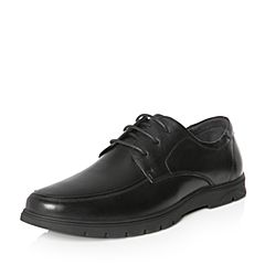 Tata/他她2018春专柜同款黑色牛皮绑带方跟男休闲鞋S1519AM8