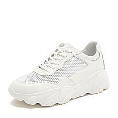 Tata/他她2019夏专柜同款白色拼接网面老爹鞋运动休闲女鞋HLF01BM9