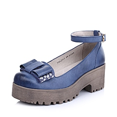 TEENMIX/天美意春季专柜同款普兰染擦色软牛皮女皮鞋6JP02AQ4