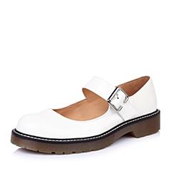 Teenmix/天美意2015年春季白色漆牛皮女单鞋6UI02AQ5