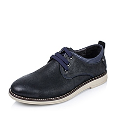 【APP专享】Teenmix/天美意冬季专柜同款蓝色牛皮男休闲鞋1TZ01DM5