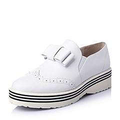 Teenmix/天美意2016春季白色牛皮女单鞋6F523AM6
