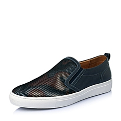 Teenmix/天美意夏季蓝/黑/棕色网布男休闲鞋B9359BM6