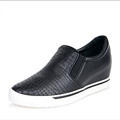 Teenmix/天美意秋专柜同款黑色牛皮革/PU女单鞋6M122CM6