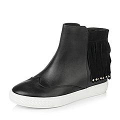 Teenmix/天美意秋季专柜同款牛皮革女靴6QJ47CD6
