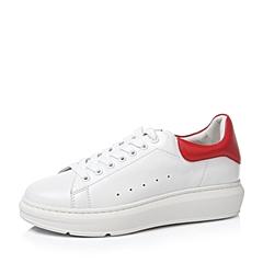 Teenmix/天美意秋白/红色牛皮革女单鞋56386CM6