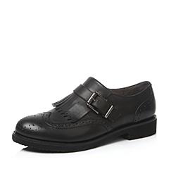 Teenmix/天美意秋黑色牛皮革女单鞋17788CM6