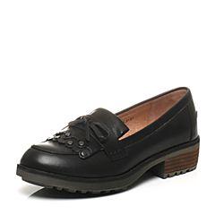 Teenmix/天美意专柜同款光面小牛皮革女皮鞋6JH37CM6