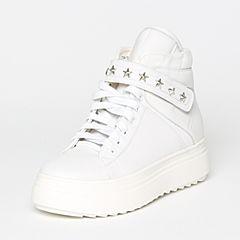 Teenmix/天美意冬季专柜同款白色牛皮/纺织品女短靴6T240DD6
