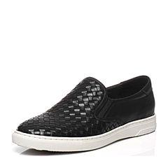 Teenmix/天美意春季专柜同款黑色牛皮男单鞋1UK0TAM6