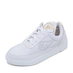 Teenmix/天美意2017专柜同款白色牛皮学院风情侣款女休闲鞋AP321CM7炫舞联名款