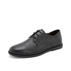 Teenmix/天美意2019春新款商场同款黑色软面牛皮革男休闲上班正装商务鞋BZA04AM9