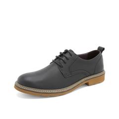 Teenmix/天美意2019春新款商场同款黑色哑光牛皮革男皮鞋CDY01AM9