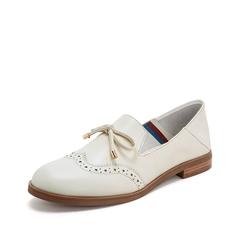 Teenmix/天美意2019春新款商场同款白色牛皮革女皮鞋CBQ08AQ9