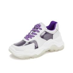 Teenmix/天美意2019春新款商场同款紫色牛皮革女休闲鞋老爹鞋CHN20AM9