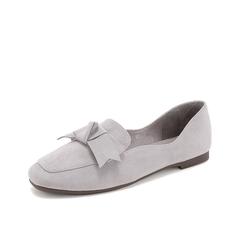 Teenmix/天美意2019春新款商场同款灰色优雅方头纺织品女休闲鞋AT361AQ9