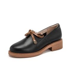 Teenmix/天美意2019春新品黑色牛皮革女皮鞋81201AM9