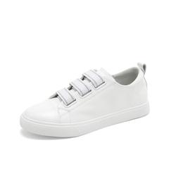 Teenmix/天美意2019春新款商场同款白色韩版学生牛皮革女休闲鞋AT571AM9