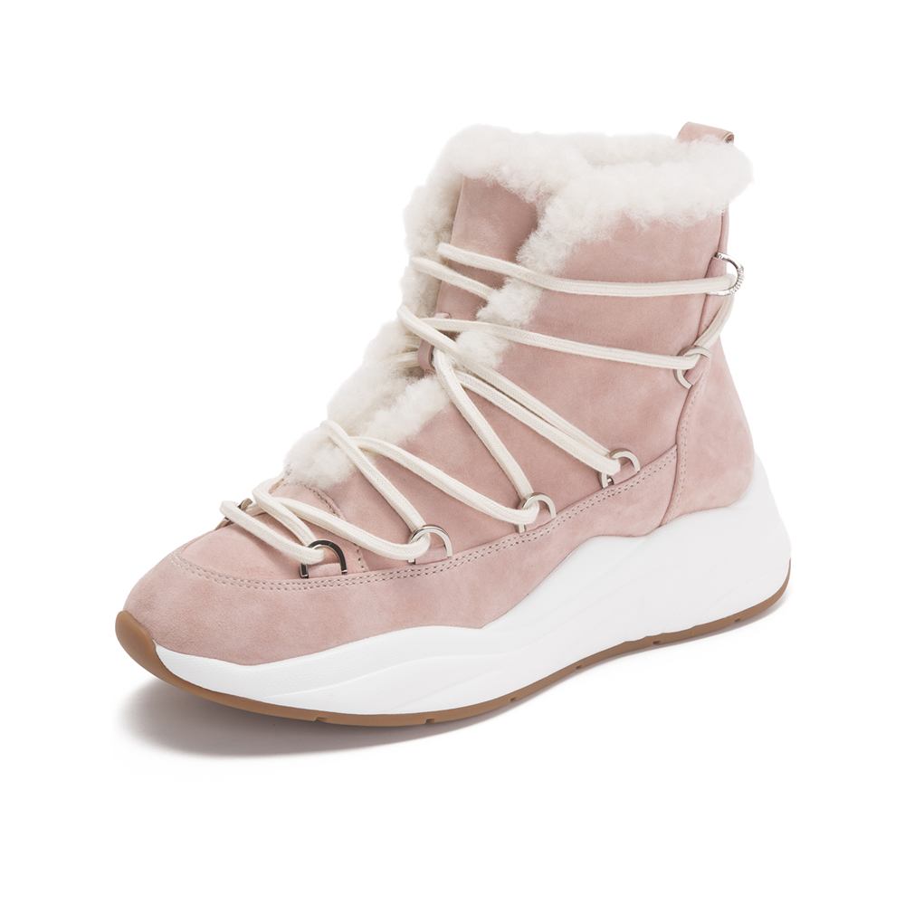 millies妙丽短靴_millies/妙丽冬季专柜同款羊绒时尚休闲女短靴LW541DD8图片-优购 ...