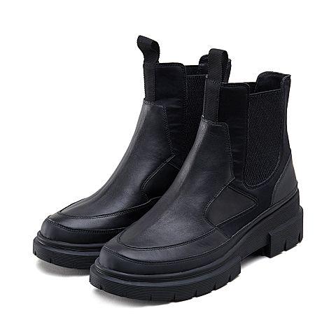 millies妙丽短靴_millies/妙丽冬专柜同款牛皮时尚休闲厚底女短靴LY341DD9图片-优购 ...