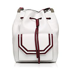STACCATO/思加图秋季专柜同款白色人造革单肩女皮包X1695CN7